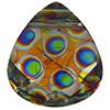 Swarovski 6012 Flat Briolette Pendant Crystal Peacock Eye 11x10mm