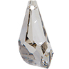 Swarovski 6015 Polygon Drop Pendant Crystal Silver Shade SS50mm