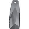 Swarovski 6019/G Petitie Crystalactite Pendant Crystal Silver Night 35mm