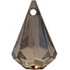 Swarovski 6022 Xirius Raindrop Pendant Crystal Bronze Shade 24mm