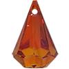 Swarovski 6022 Xirius Raindrop Pendant Crystal Red Magma 14x9mm