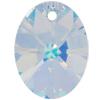 Swarovski 6028 Xilion Oval Pendant Crystal AB 12mm