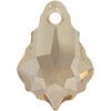 Swarovski 6090 Baroque Pendant Crystal Golden Shadow 16x11mm
