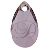 Swarovski 6106 Pear Shaped Pendant Crystal Antique Pink 16mm