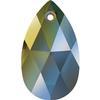 Swarovski 6106 Pear Shaped Pendant Crystal Iridescent Green 16mm