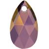 Swarovski 6106 Pear Shaped Pendant Crystal Lilac Shadow 28mm