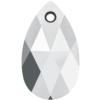 Swarovski 6106 Pear Shaped Pendant Crystal Light Chrome 22mm