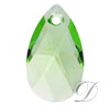 Swarovski 6106 Pear Shaped Pendant Peridot 16mm