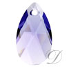 Swarovski 6106 Pear Shaped Pendant Tanzanite 16mm