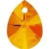 Swarovski 6128 Xilion Mini Pear Pendant Tangerine 10mm