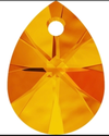 Swarovski 6128 Xilion Mini Pear Pendant Tangeine 12mm