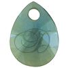 Swarovski 6128 Xilion Mini Pear Pendant Aquamarine 10mm