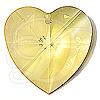 Swarovski 6228 Xilion Heart Pendant Light Topaz 10.3x10mm