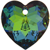Swarovski 6215 Heart Pendant Crystal Green Sphinx 18mm