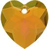 Swarovski 6215 Heart Pendant Mahogany 18mm