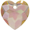 Swarovski 6215 Heart Pendant Crystal Purple Haze 18mm
