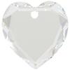 Swarovski 6225 Flat Heart Pendant Crystal 18mm