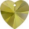 Swarovski 6228 Xilion Heart Pendant Crystal Iridescent Green 14.4x14mm