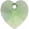 Swarovski 6228 Xilion Heart Pendant Peridot 14.4x14mm