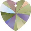 Swarovski 6228 Xilion Heart Pendant Crystal Paradise Shine 14.4x14mm