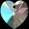 Swarovski 6228 Xilion Heart Pendant Crystal Shimmer 10.3x10mm