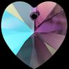 Swarovski 6228 Xilion Heart Pendant Amethyst Shimmer 10.3x10mm