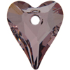 Swarovski 6240 Wild Heart Pendant Crystal Antique Pink 12mm