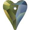 Swarovski 6240 Wild Heart Pendant Crystal Iridescent Green 12mm