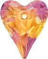 Swarovski 6240 Wild Heart Pendant Crystal Astral Pink 12mm