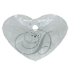 Swarovski 6260 Crazy 4 U Heart Pendant Crystal 17mm