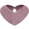 Swarovski 6260 Crazy 4 U Heart Pendant Crystal Antique Pink 17mm