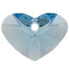 Swarovski 6260 Crazy 4 U Heart Pendant Aquamarine 17mm