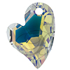 Swarovski 6261 Devoted 2 U Heart Pendant Crystal AB 17mm