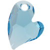 Swarovski 6261 Devoted 2 U Heart Pendant Aquamarine 17mm