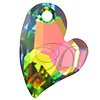 Swarovski 6261 Devoted 2 U Heart Pendant Crystal Vitrail Medium 17mm