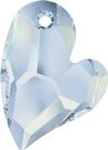 Swarovski 6261 Devoted 2 U Heart Pendant Crystal Blue Shade 17mm