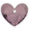Swarovski 6263 Forever 1 Heart Pendant Crystal Antique Pink 36mm