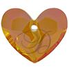 Swarovski 6263 Forever 1 Heart Pendant Crystal Astral Pink 36mm