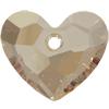 Swarovski 6264 Truly in Love Heart Pendant Crystal Golden Shadow 18mm