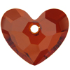 Swarovski 6264 Truly in Love Heart Pendant Crystal Red Magma 18mm