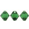Swarovski 6301 Top Drilled Bicone Pendant Dark Moss Green 6mm