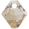 Swarovski 6328 Top Drilled Xilion Bicone Pendant Crystal Golden Shadow 6mm