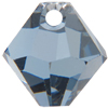 Swarovski 6301 Top Drilled Bicone Pendant Light Sapphire Satin 8mm