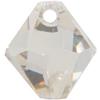 Swarovski 6301 Top Drilled Bicone Pendant Crystal Silver Shade 10mm
