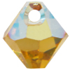 Swarovski 6301 Top Drilled Bicone Pendant Topaz AB 6mm