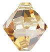 Swarovski 6301 Top Drilled Bicone Pendant Crystal Golden Shadow 6mm