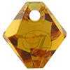 Swarovski 6301 Top Drilled Bicone Pendant Topaz 6mm