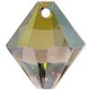 Swarovski 6328 Top Drilled Xilion Bicone Pendant Crystal Iridescent Green 6mm