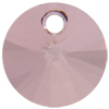 Swarovski 6428 Xilion Rivoli Pendant Crystal Antique Pink 6mm