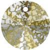 Swarovski 6428 Xilion Rivoli Pendant Crystal Gold Patina 6mm